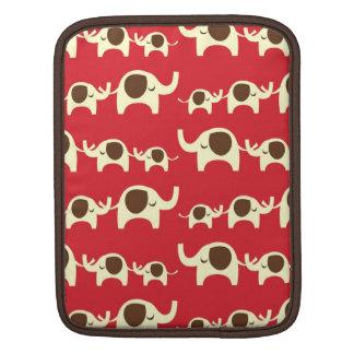 Good luck elephants cherry red iPad iPad 2 sleeve