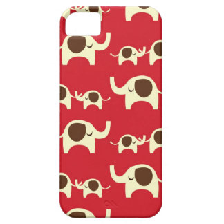 Good luck elephants cherry red iPhone 5S case skin