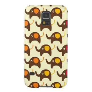 Good luck elephants kawaii cute nature pattern tan galaxy s5 case