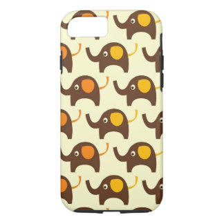 Good luck elephants kawaii cute nature pattern tan iPhone 7 case