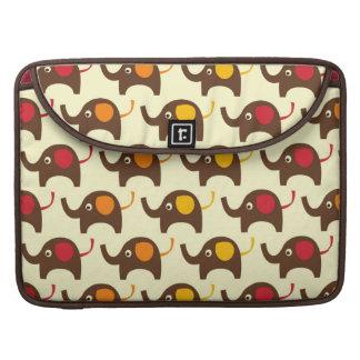 Good luck elephants kawaii cute nature pattern tan sleeves for MacBook pro