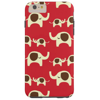 Good luck elephants red iPhone 6 cute elephant Tough iPhone 6 Plus Case