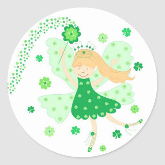 Good Luck Fairy Classic Round Sticker