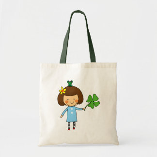 Good luck girl with a four leaf clover tote bag