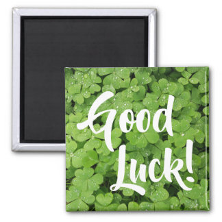 Good Luck green fresh shamrock fridge magnet