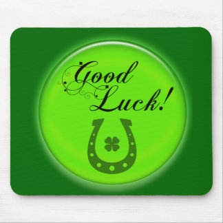 Good Luck Horse Shoe Mouse Pad