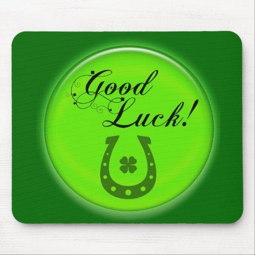Good Luck Horse Shoe Mousemat