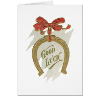 Good Luck Horseshoe with blank inside Card