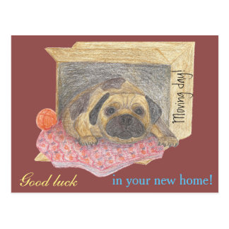 """""""Good luck in your new home"""" card Postcard"""