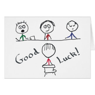 Good Luck Interview Card