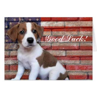 Good Luck Jack Russell Terrier card