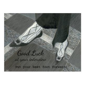 Good Luck Job Interview postcard