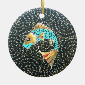 Good Luck Koi Fish Symbol of Fortune Ceramic Ornament