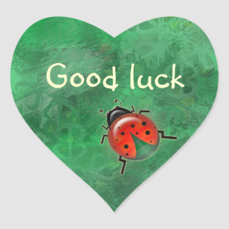 good luck lady b. heart sticker