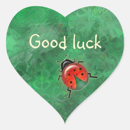 good luck lady b. heart sticker