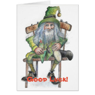 Good Luck leprechaun Card