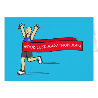 Good Luck marathon man. Card