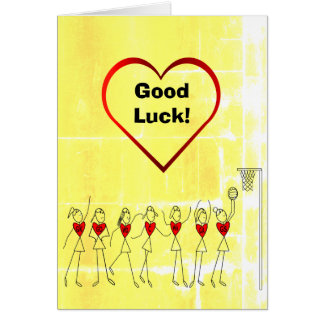 Good Luck Netball Greeting Card