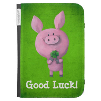 Good Luck Pig Kindle Case