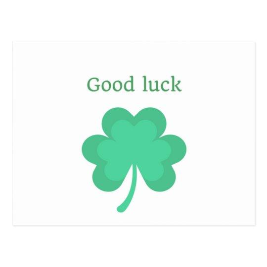 Good Luck Postcard Greeting Card