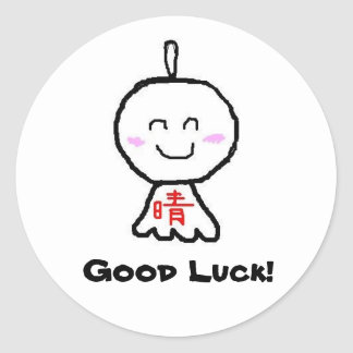 Good Luck! Round Sticker