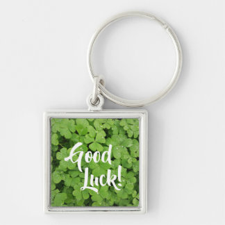 Good Luck shamrock st.Patricks clover keychain