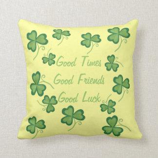 Good Luck Shamrocks Pillow