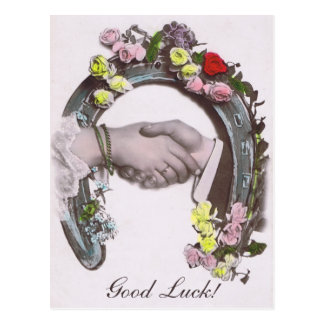 Good Luck Vintage Horseshoe Postcard