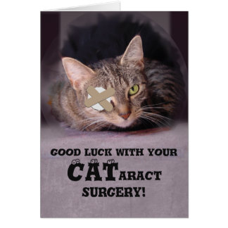Good Luck with your CATaract Surgery Card