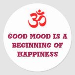 Good mood is a beginning of happiness sticker