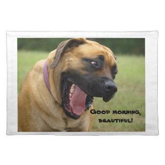 Good Morning, Beautiful! English Mastiff dog Place Mats