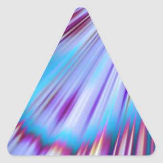 Good Morning blue I Triangle Sticker
