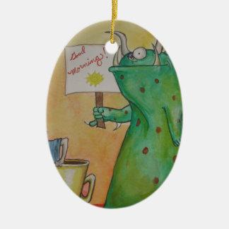 Good Morning! Ceramic Oval Ornament