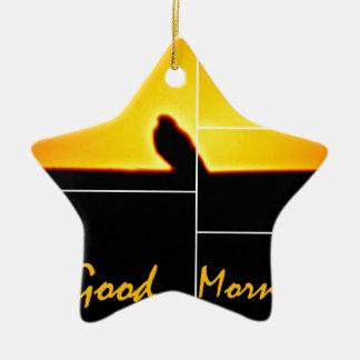 Good Morning Ceramic Star Ornament