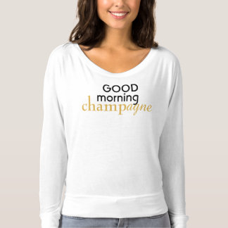 Good Morning Champagne long sleeve slouch top