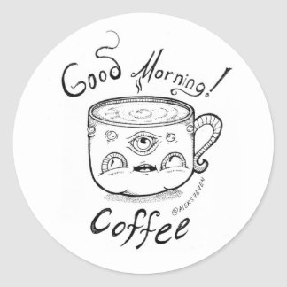 Good Morning coffee - 2 -sticker