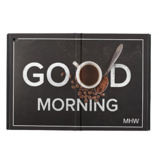 Good Morning Coffee custom monogram device cases