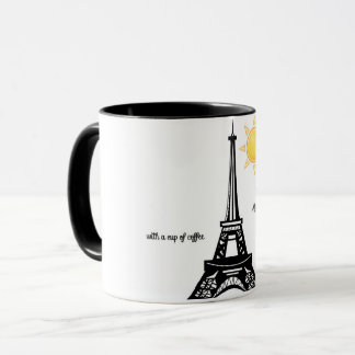 Good Morning Eiffel Tower cup