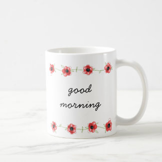 'Good morning' Flower coffee Mug