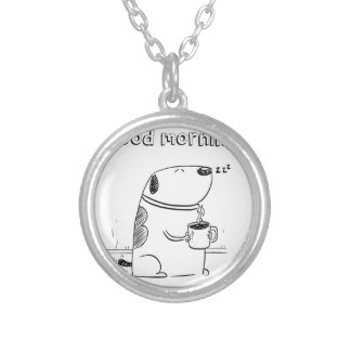 Good Morning Gibo Silver Plated Necklace