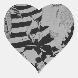 Good morning Glory Heart Sticker