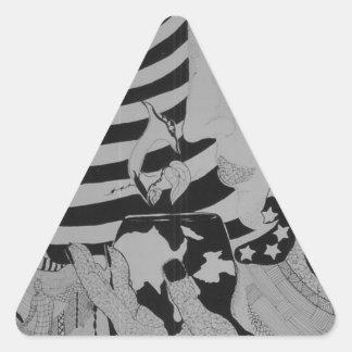 Good morning Glory Triangle Sticker