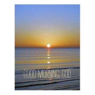Good Morning, God Quote Postcard