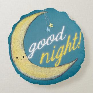 Good Morning Good Night Reversible Round Pillow