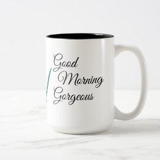 Good Morning Gorgeous 15 oz two-toned Mug