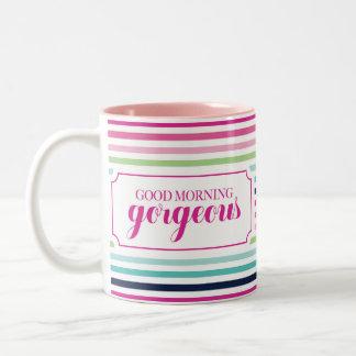 Good Morning Gorgeous Two-Tone Coffee Mug