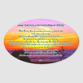 Good Morning Heavenly father prayer Sticker