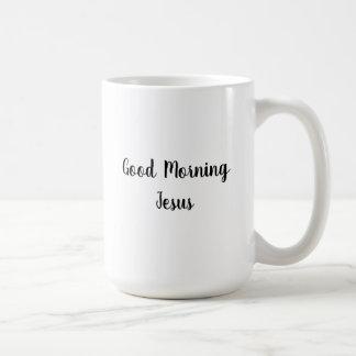 Good Morning Jesus Classic White Mug