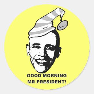 Good Morning Mr P. Round Sticker