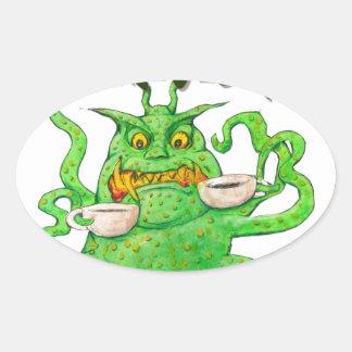 Good Morning! Oval Sticker